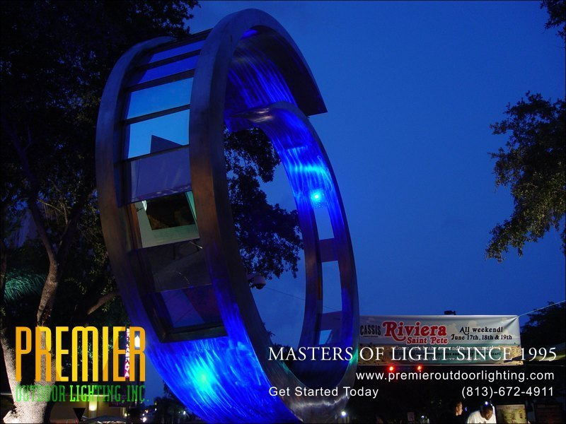 Outdoor Artwork Lighting Techniques  - Company Projects in Artwork Lighting photo gallery from Premier Outdoor Lighting