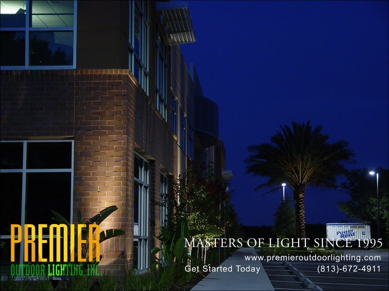 Office Lighting Techniques  - Company Projects in Commercial Lighting photo gallery from Premier Outdoor Lighting