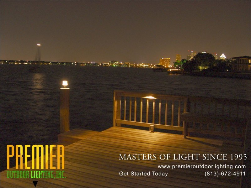 Colored LED Dock Lighting Tampa in Dock Lighting photo gallery from Premier Outdoor Lighting