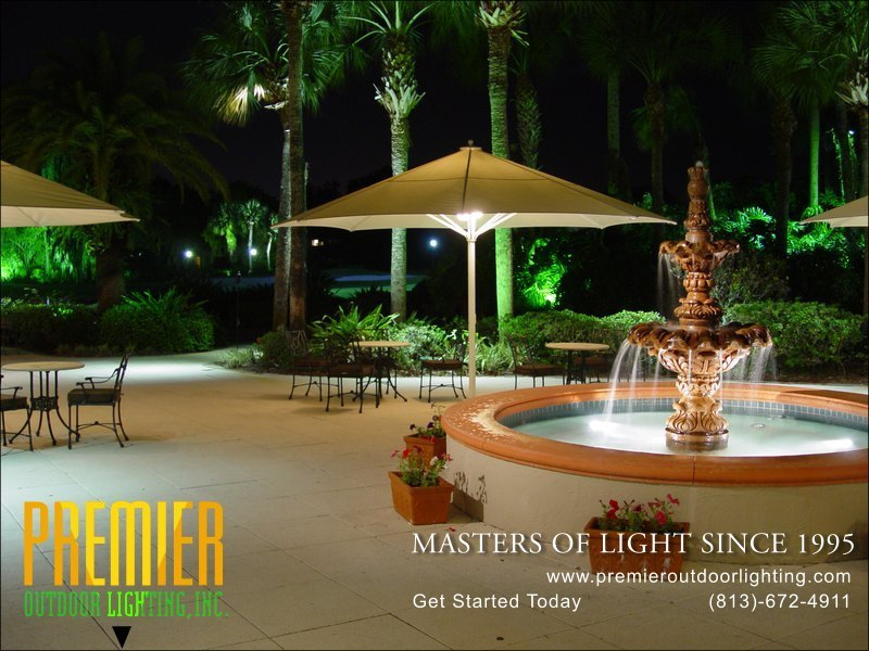 Outdoor Fountain Lighting Techniques  - Company Projects in Fountain Lighting photo gallery from Premier Outdoor Lighting
