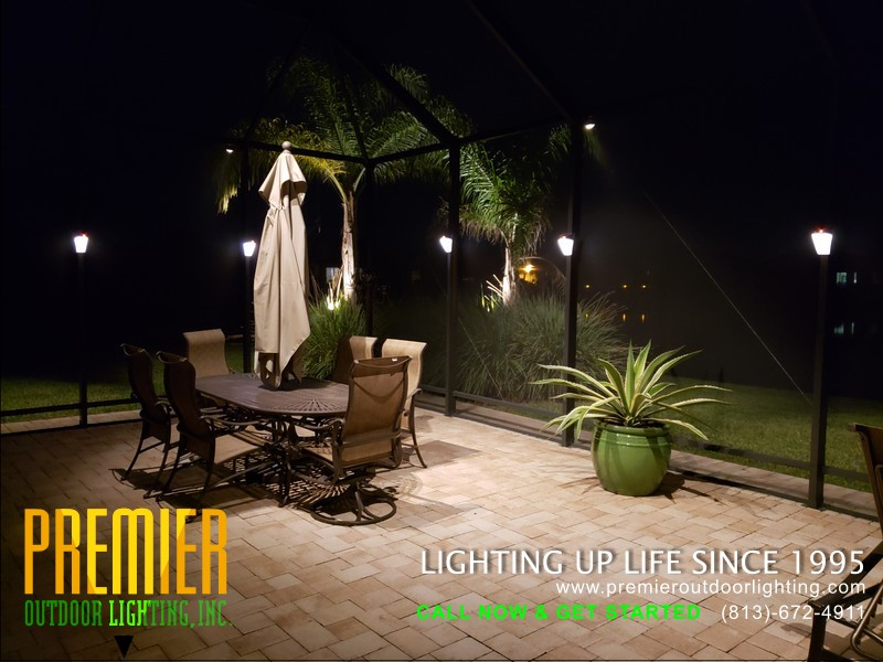 Pool Cage Lighting Company in Pool Cage Lighting photo gallery from Premier Outdoor Lighting