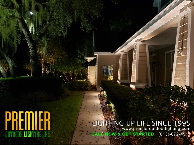 LED Landscape Lighting Installer Tampa in Residential Outdoor Lighting photo gallery from Premier Outdoor Lighting