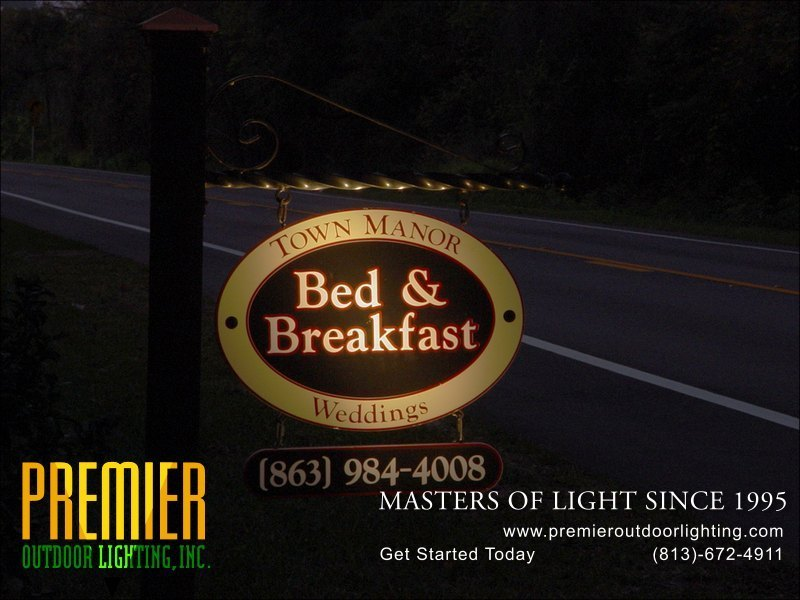 Outdoor Sign Lighting Techniques  - Company Projects in Sign Lighting photo gallery from Premier Outdoor Lighting